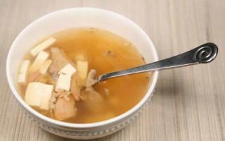 Turkey Tofu Soup and Turkey Broth