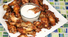 Crispy Garlic Parmesan Chicken Wings