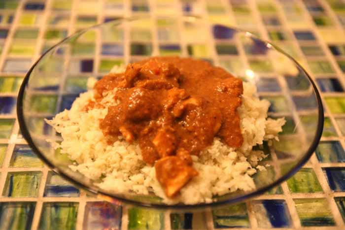 "Chicken Curry with ""Rice"""