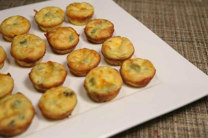 Mini Green Chili Frittatas