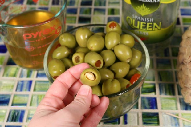 Almond Stuffed Olives3